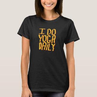 Hago el diario de la yoga. Amarillo y negro Camiseta