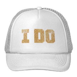 Hago el gorra de Bachelorette de la novia del oro