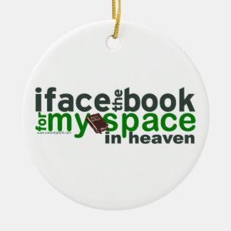 Hago frente al libro para Myspace Adorno Redondo De Cerámica