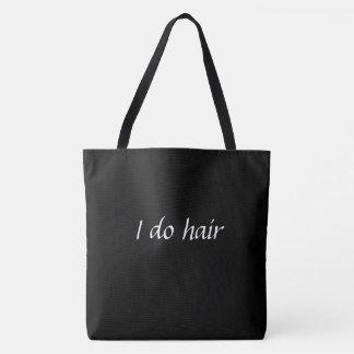 Hago la bolsa de asas del pelo