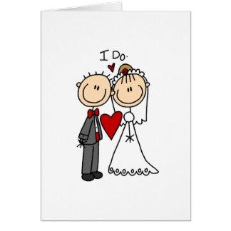Hago la tarjeta de la ceremonia de boda