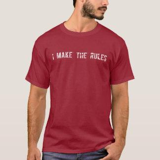 Hago las reglas (blancas) camiseta