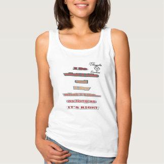 Hago lo que tengo gusto de las camisetas sin