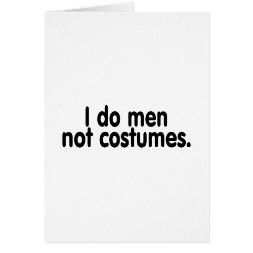 Hago los trajes de los hombres no tarjetas