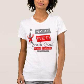 Hago mirada roja buena enfermedad cardíaca camisetas
