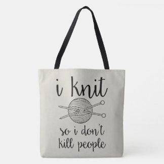 Hago punto así que no mato a gente bolsa de tela
