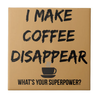 Hago que el café desaparece teja