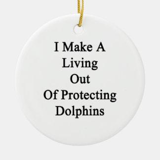 Hago una vida fuera de delfínes de protección ornamento para reyes magos