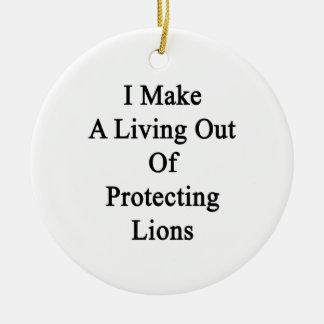 Hago una vida fuera de leones de protección ornamentos de reyes magos