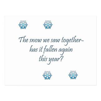 Haiku de la nieve postal