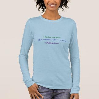 Haiku del Hippopotamus Camiseta De Manga Larga