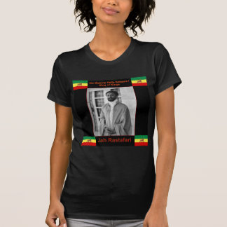 Haile Selassie el león de Judah, Jah Rastafari Camiseta