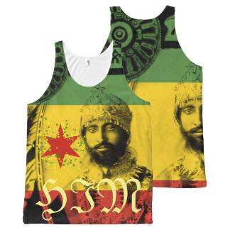 Haile Selassie por todo la impresión ÉL top de la Camiseta De Tirantes Con Estampado Integral
