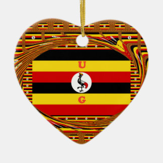 Hakuna asombroso hermoso Matata Uganda precioso Adorno Navideño De Cerámica En Forma De Corazón