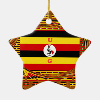Hakuna asombroso hermoso Matata Uganda precioso Adorno Navideño De Cerámica En Forma De Estrella