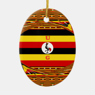 Hakuna asombroso hermoso Matata Uganda precioso Adorno Navideño Ovalado De Cerámica