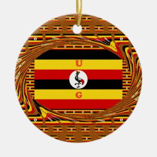 Hakuna asombroso hermoso Matata Uganda precioso Adorno Navideño Redondo De Cerámica