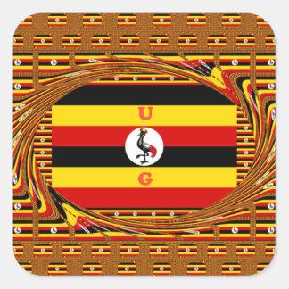 Hakuna asombroso hermoso Matata Uganda precioso Pegatina Cuadrada