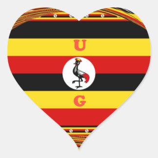 Hakuna asombroso hermoso Matata Uganda precioso Pegatina En Forma De Corazón