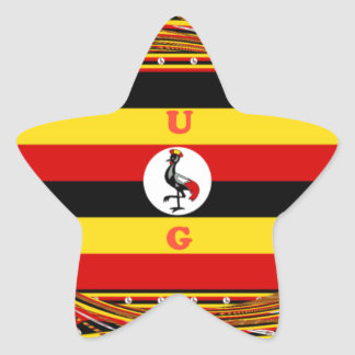 Hakuna asombroso hermoso Matata Uganda precioso Pegatina En Forma De Estrella