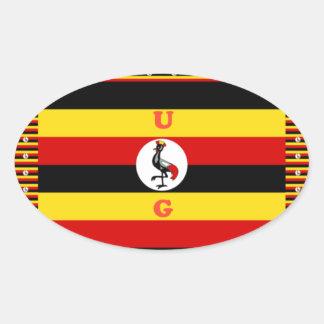 Hakuna asombroso hermoso Matata Uganda precioso Pegatina Ovalada