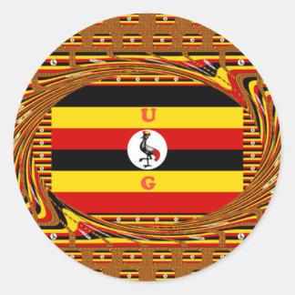 Hakuna asombroso hermoso Matata Uganda precioso Pegatina Redonda