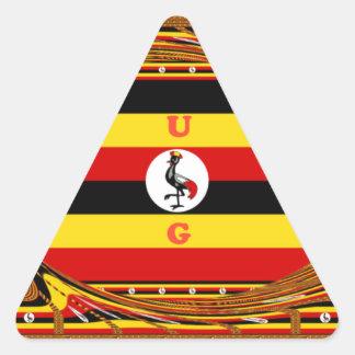 Hakuna asombroso hermoso Matata Uganda precioso Pegatina Triangular