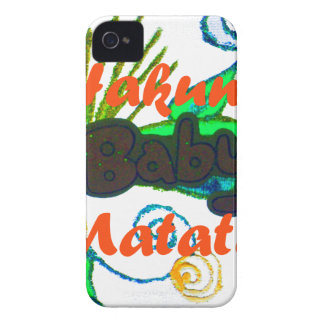 Hakuna Matata Baby.png Case-Mate iPhone 4 Protectores