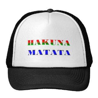 Hakuna Matata/frase africana para el regalo de Gorras