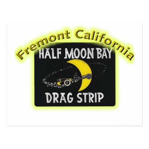 Half Moon Bay Dragstrip Tarjeta Postal