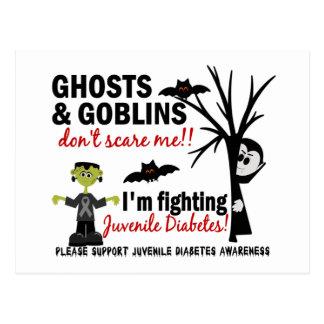 Halloween 1 guerrero de la diabetes juvenil tarjeta postal