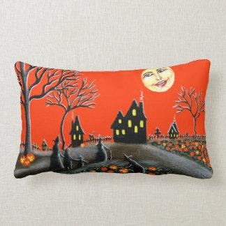 Halloween, almohada, Jack-O-Linternas, brujas, Cojín Lumbar