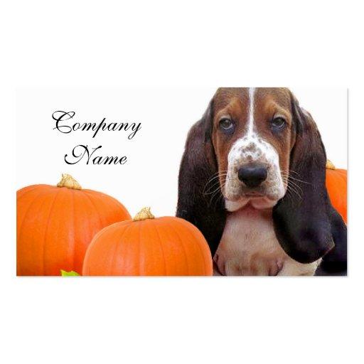 Halloween Basset Hound Tarjetas De Visita