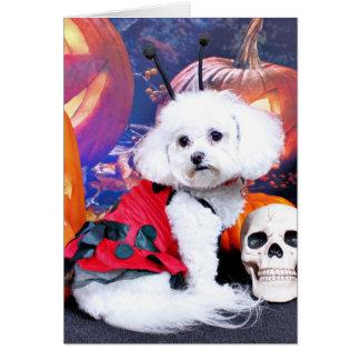 Halloween - Bichon Frise - Mia Tarjeta De Felicitación