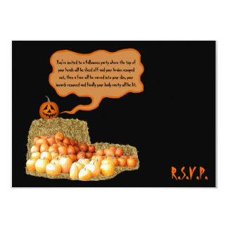 Halloween chistoso invitación 12,7 x 17,8 cm