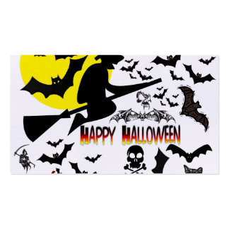 Halloween Collage1 Tarjetas De Visita