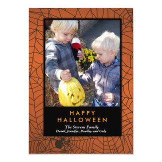 """""""/HALLOWEEN del feliz Halloween de Spiderweb """" Invitación 12,7 X 17,8 Cm"""