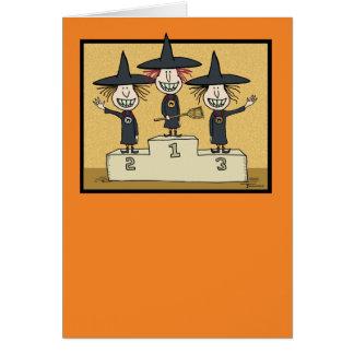 Halloween divertido: Las mejores brujas Tarjeta De Felicitación