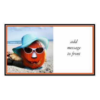 Halloween en la playa tarjeta personal
