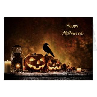 Halloween - escena asustadiza de Halloween Tarjeta