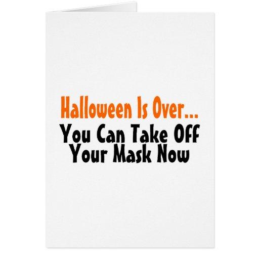 Halloween está sobre usted puede ahora sacar su má tarjeton