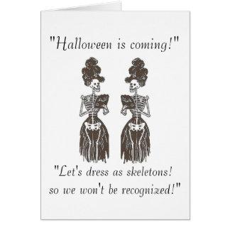 ¡Halloween está viniendo! Tarjeta divertida