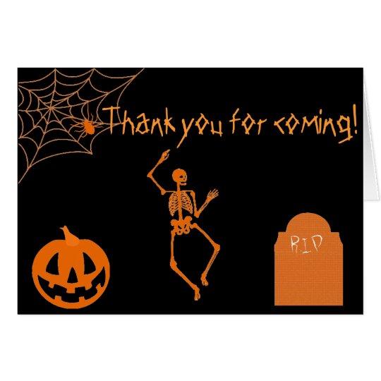 Halloween fantasmagórico le agradece las tarjetas