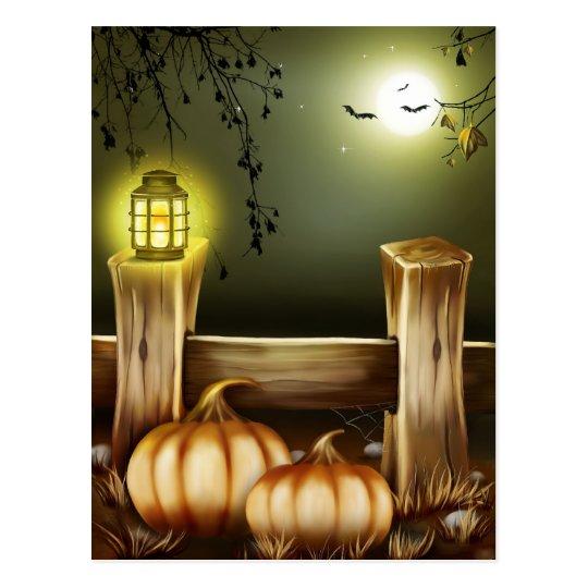 Halloween fantasmagórico postal