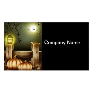 Halloween fantasmagórico tarjetas de visita