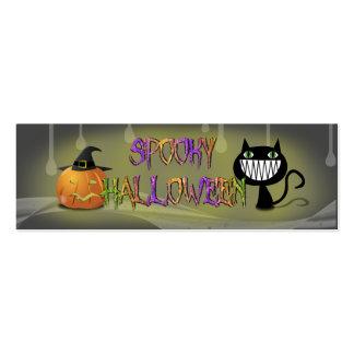 Halloween fantasmagórico tarjetas de visita mini