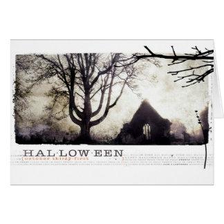 Halloween frecuentó la fotografía gótica del tarjeta de felicitación