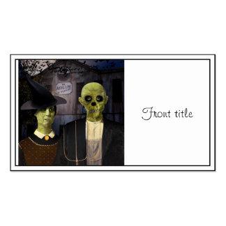 Halloween gótico americano tarjetas de visita