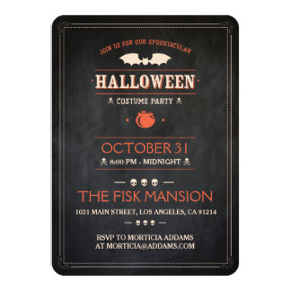 Halloween invita: Spooktacular - personalizable Invitación 11,4 X 15,8 Cm