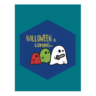 Halloween is coming postal
